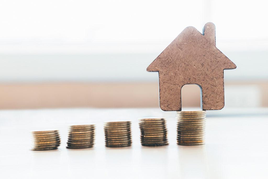 住宅と小銭