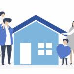 家族と家のイラスト